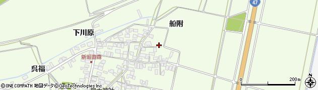 山形県酒田市新堀船附周辺の地図