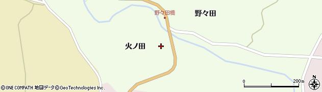 岩手県一関市藤沢町砂子田火ノ田周辺の地図