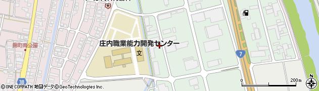 山形県酒田市京田2丁目周辺の地図