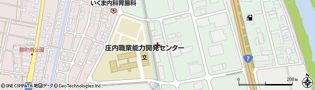 山形県酒田市京田周辺の地図