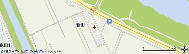 山形県酒田市落野目新田周辺の地図