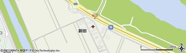 山形県酒田市落野目新田104周辺の地図