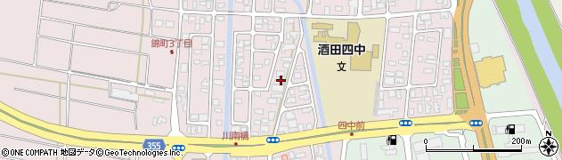山形県酒田市錦町2丁目周辺の地図