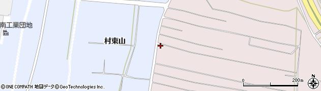 山形県酒田市坂野辺新田西狢山周辺の地図