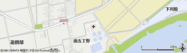 山形県酒田市遊摺部南五丁野周辺の地図