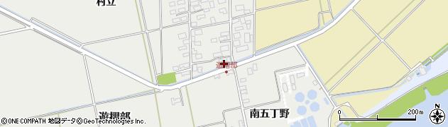 山形県酒田市遊摺部村立136周辺の地図