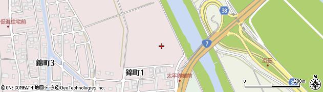 山形県酒田市坂野辺新田下割周辺の地図