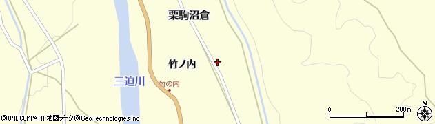 宮城県栗原市栗駒沼倉東竹ノ内周辺の地図