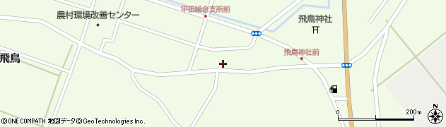 山形県酒田市飛鳥118周辺の地図