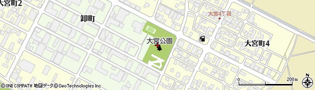 山形県酒田市卸町5周辺の地図