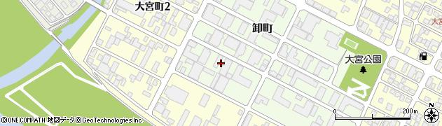 山形県酒田市卸町2周辺の地図