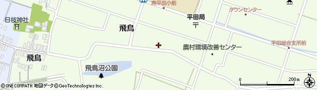 山形県酒田市飛鳥208周辺の地図