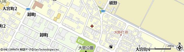 山形県酒田市大宮町周辺の地図