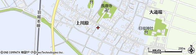 山形県酒田市砂越上川原18周辺の地図