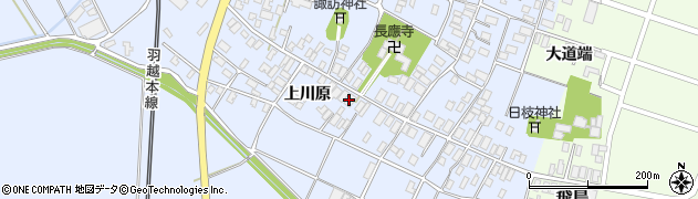 山形県酒田市砂越上川原22周辺の地図