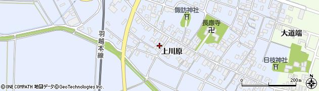 山形県酒田市砂越上川原74周辺の地図