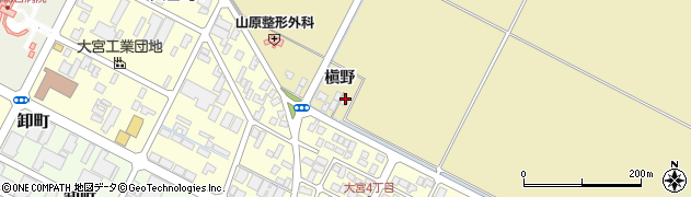 山形県酒田市大宮槇野周辺の地図