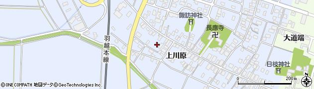 山形県酒田市砂越上川原525周辺の地図