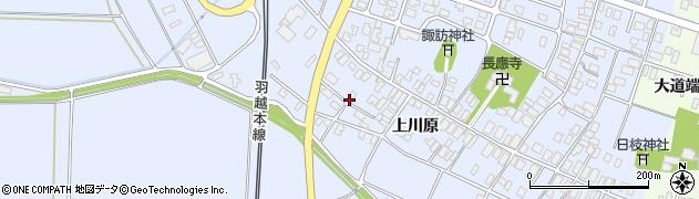 山形県酒田市砂越上川原523周辺の地図