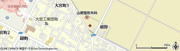 山形県酒田市大宮一貫野74周辺の地図
