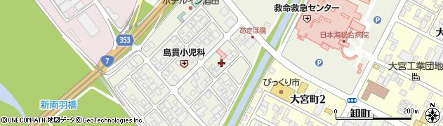 山形県酒田市あきほ町653周辺の地図