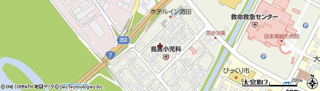 山形県酒田市あきほ町627周辺の地図