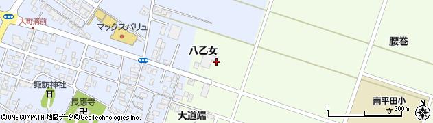 山形県酒田市飛鳥八乙女周辺の地図