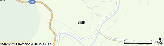 岩手県一関市藤沢町砂子田境田周辺の地図