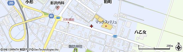 山形県酒田市砂越粕町90周辺の地図