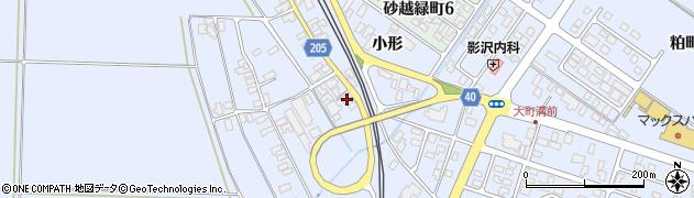 山形県酒田市砂越上川原203周辺の地図