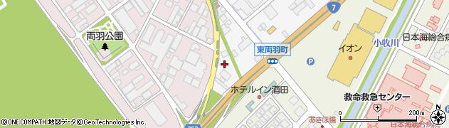 山形県酒田市東両羽町9周辺の地図