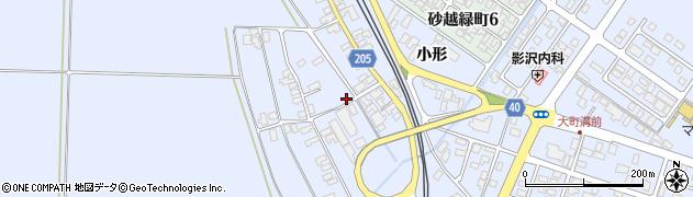 山形県酒田市砂越上川原223周辺の地図