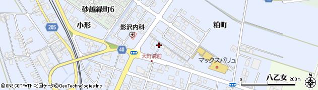 山形県酒田市砂越粕町周辺の地図