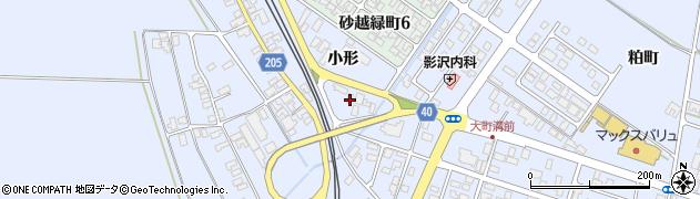 山形県酒田市砂越小形124周辺の地図