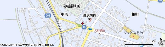 山形県酒田市砂越小形105周辺の地図