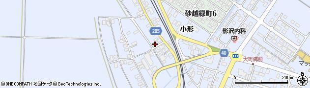山形県酒田市砂越上川原212周辺の地図