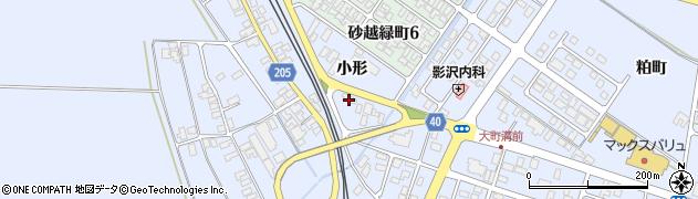 山形県酒田市砂越小形125周辺の地図