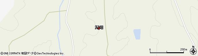 岩手県一関市滝沢(泥畑)周辺の地図