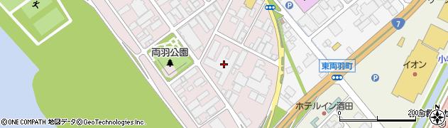 山形県酒田市両羽町332周辺の地図