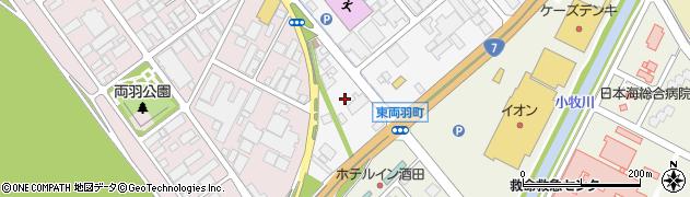 山形県酒田市東両羽町8周辺の地図
