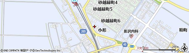 山形県酒田市砂越小形114周辺の地図