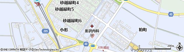 山形県酒田市砂越小形74-9周辺の地図