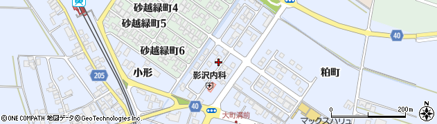 山形県酒田市砂越小形74-14周辺の地図