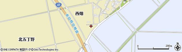 山形県酒田市小牧西畑71周辺の地図