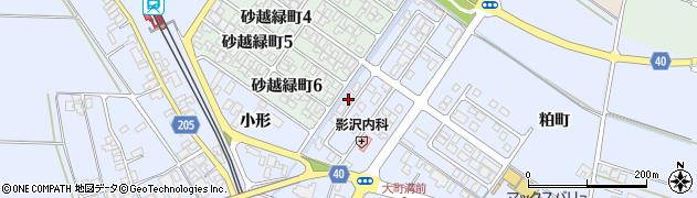 山形県酒田市砂越小形74-5周辺の地図