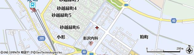 山形県酒田市砂越小形74-15周辺の地図