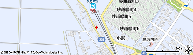 山形県酒田市砂越小形138周辺の地図
