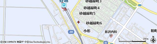 山形県酒田市砂越小形117周辺の地図