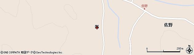岩手県一関市室根町矢越峯周辺の地図
