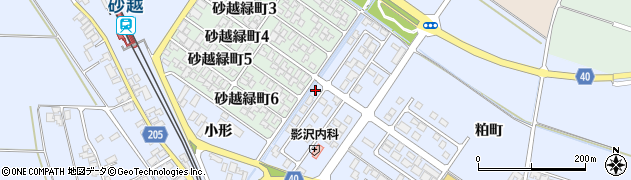 山形県酒田市砂越小形74-7周辺の地図